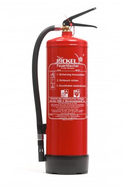 Jockel 6 Liter Dauerdruck Schaum Feuerlöscher S6LJ 34 BIO MIT WANDHALTER